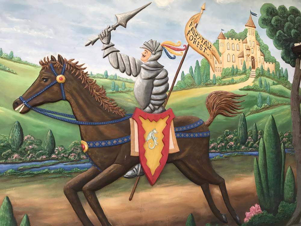 Fairy Tale Forest Knight On Horse